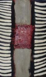 140 x 100cm  Öl und Pigment auf Leinwand.