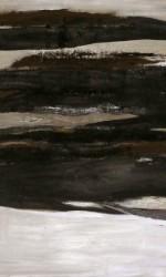 Öl und Pigment auf Leinwand.