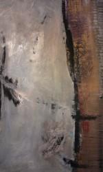 Öl und Pigment auf Leinwand 170 x 130 cm