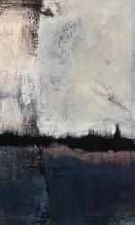 130 x 170 cm Öl und Pigment auf Leinwand.