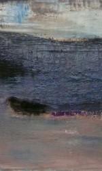 100 x 100 cm Öl und Pigment auf Leinwand.